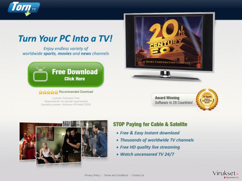 TornTV malware kuvankaappaus