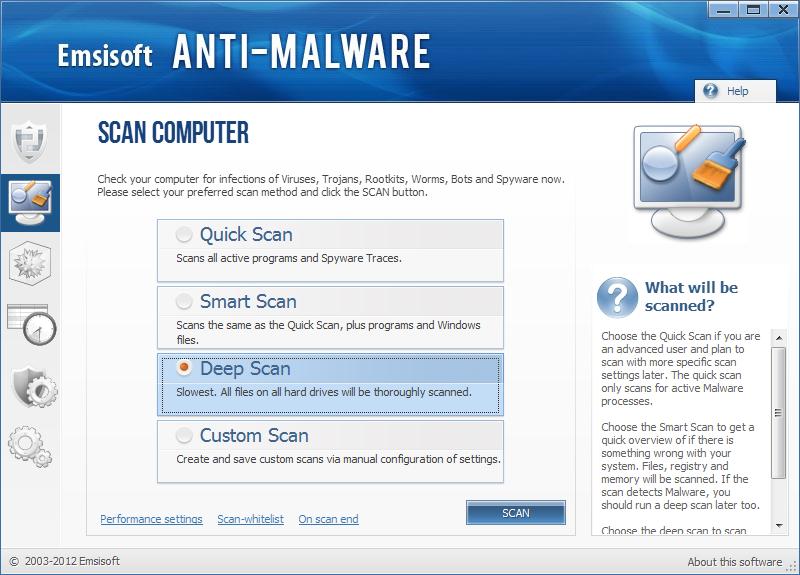 Emsisoft Anti Malware kuvankaappaus