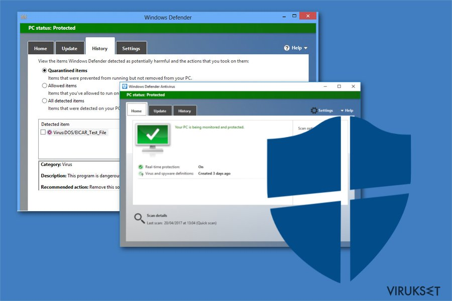 Microsoft Safety Scanner comparison to Windows Defender
