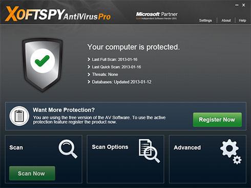 XoftSpySE Anti Spyware kuvankaappaus