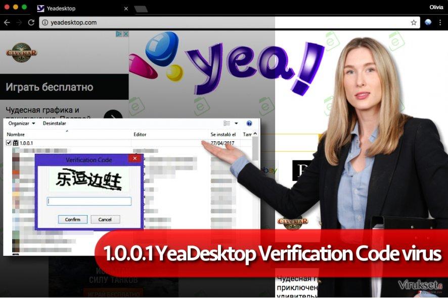 1.0.0.1 YeaDesktop verification code haittaohjelma