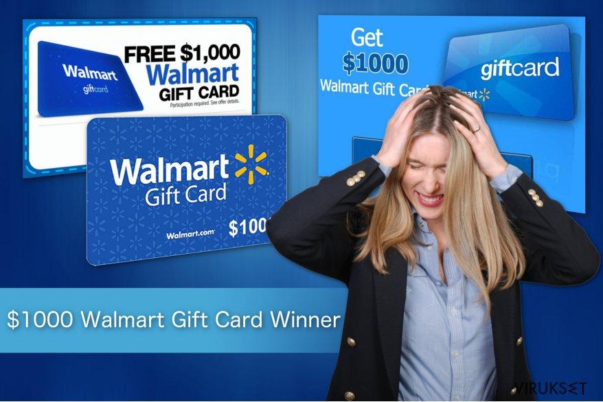 $1000 Walmart Gift Card Winner huijauksen kuva