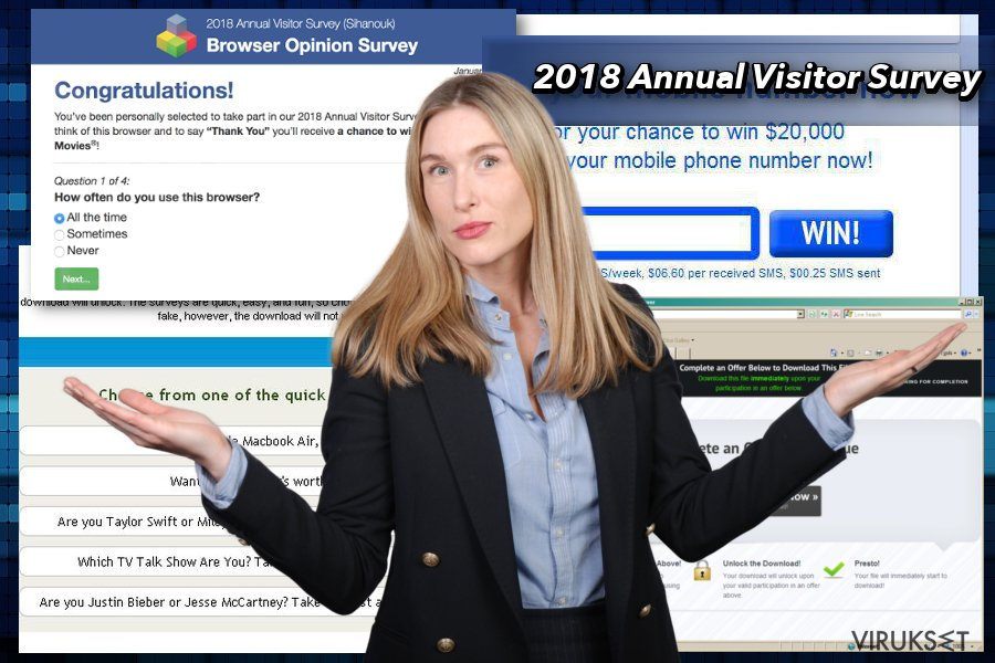 2018 Annual Visitor Survey popup