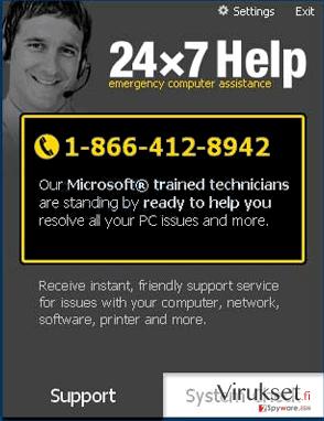 24x7 Help kuvankaappaus