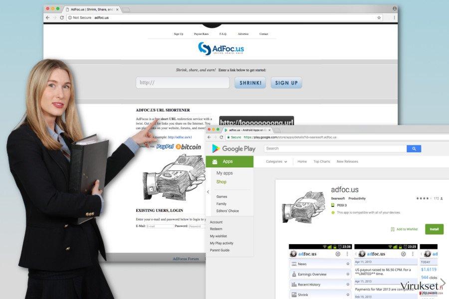 Adfoc.us viruksen kuva