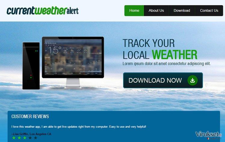 Current Weather Alert mainokset kuvankaappaus