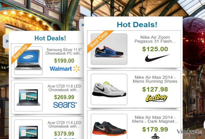 Deals Finder mainokset kuvankaappaus