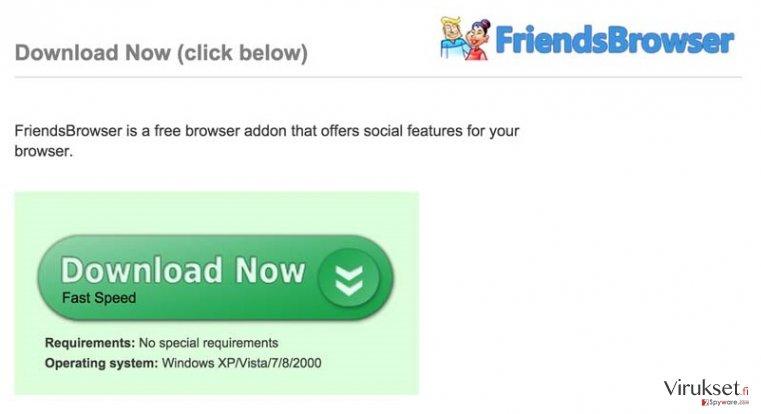 FriendsBrowser mainokset kuvankaappaus
