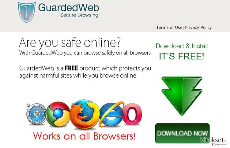 GuardedWeb mainokset kuvankaappaus