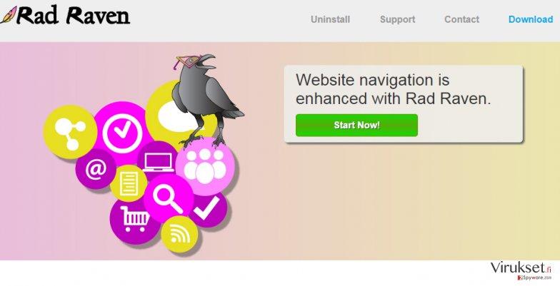 Rad Raven mainokset kuvankaappaus