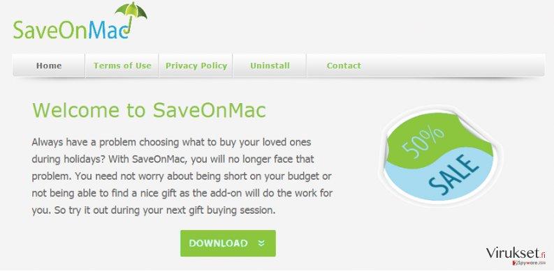 SaveOnMac mainokset kuvankaappaus
