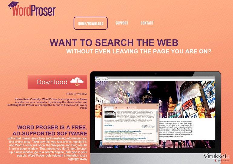 WordProser mainokset kuvankaappaus