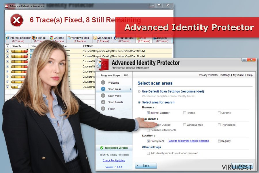 Advanced Identity Protector skanneri