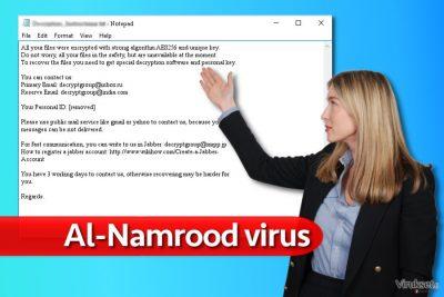 Al-Namrood lunnasohjelma viruksen viesti