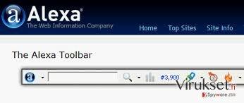 Alexa Toolbar kuvankaappaus
