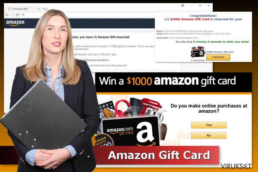 Amazon Gift Card huijaus esimerkki