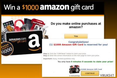 Amazon Gift Card virus esimerkki
