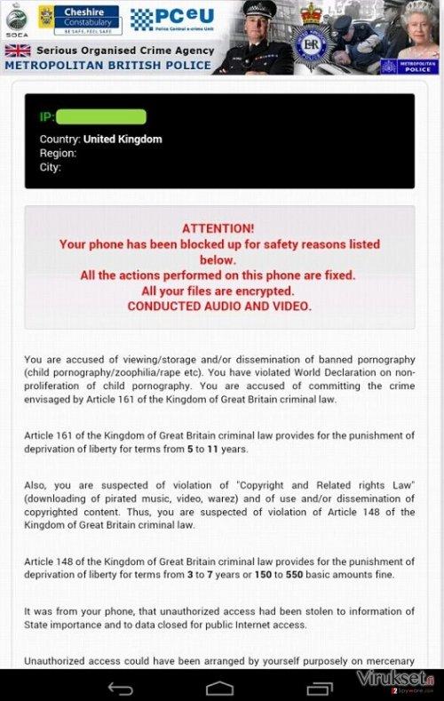 Android Police Virus kuvankaappaus