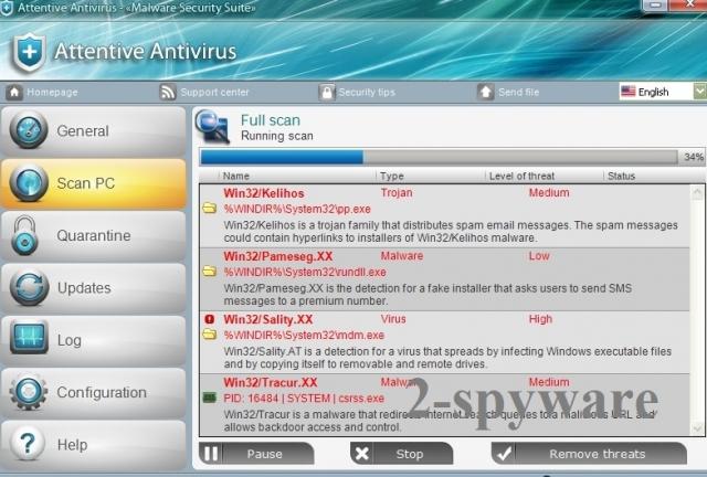 Attentive Antivirus kuvankaappaus