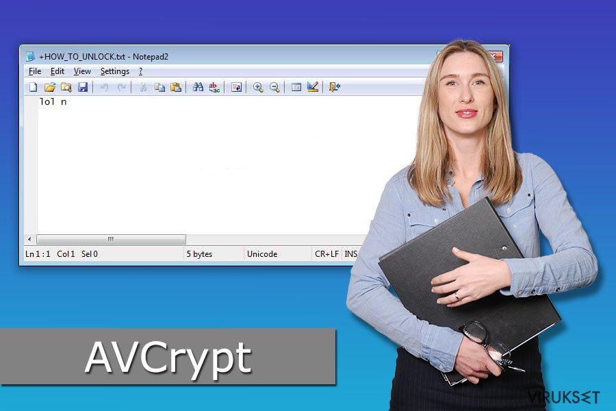 AVCrypt lunnasohjelma virus