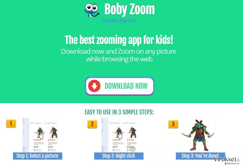 Boby Zoom mainokset kuvankaappaus