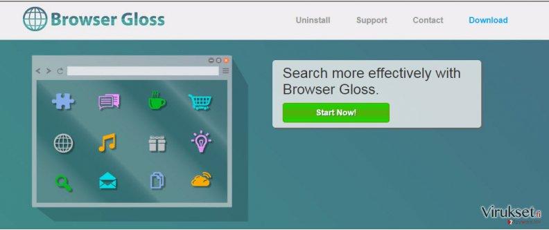 Browser Gloss mainokset kuvankaappaus