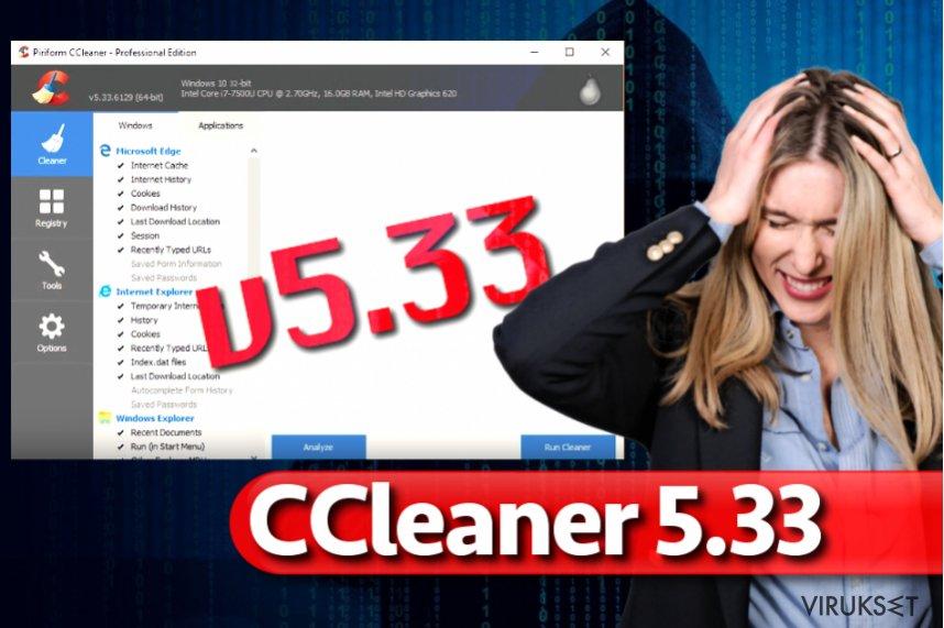 CCleaner 5.33 haittaohjelma
