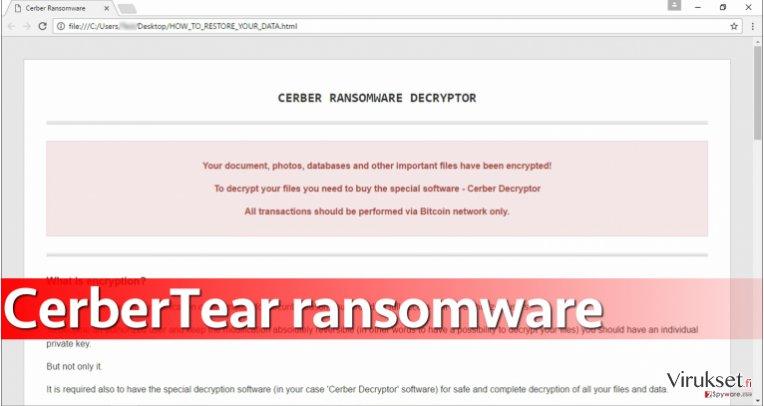 CerberTear ransomware