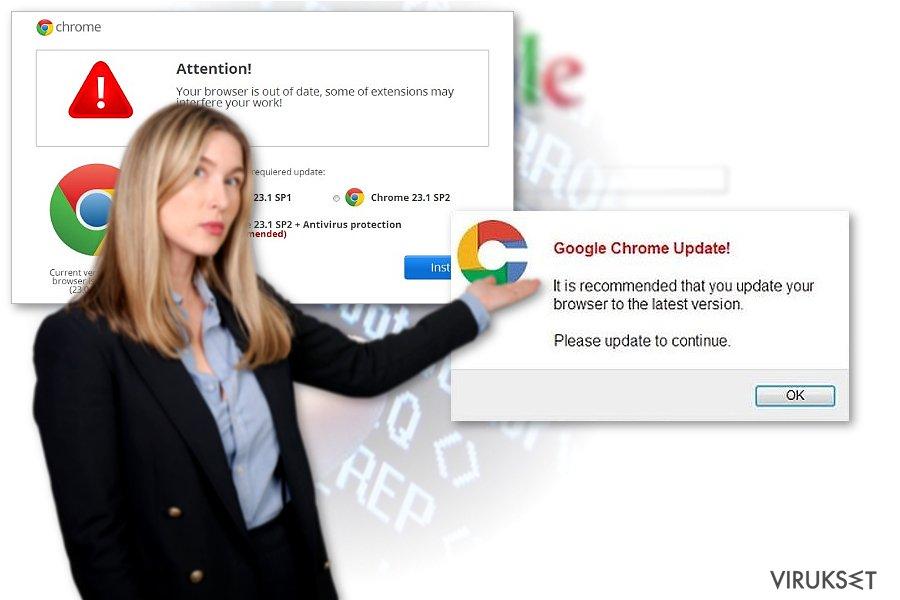 Chrome uudellenohjaus virus kuvankaappaus