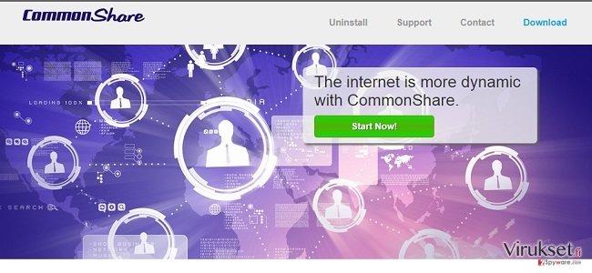 CommonShare mainokset ja CommonShare tarjoukset kuvankaappaus