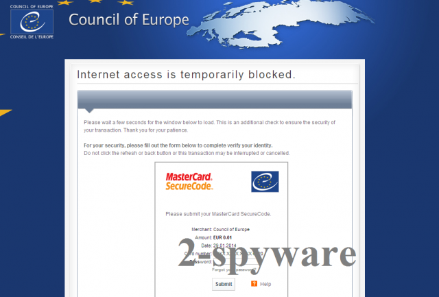Council of Europe virus kuvankaappaus