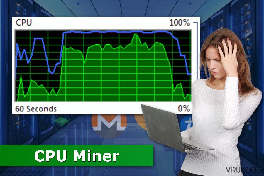 Kuva CPU Miner viruksesta
