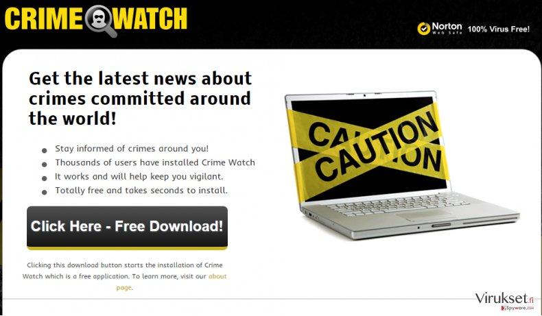 Crime Watch mainokset kuvankaappaus