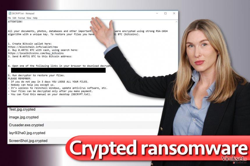 Crypted virus kuvankaappaus