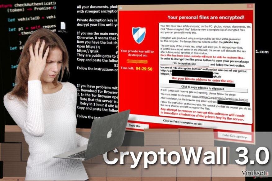 CryptoWall 3.0 virus kuvankaappaus