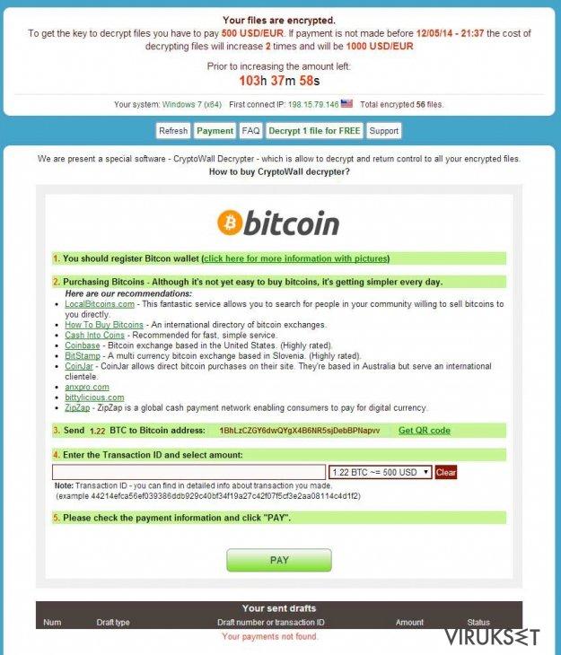 CryptoWall virus kuvankaappaus