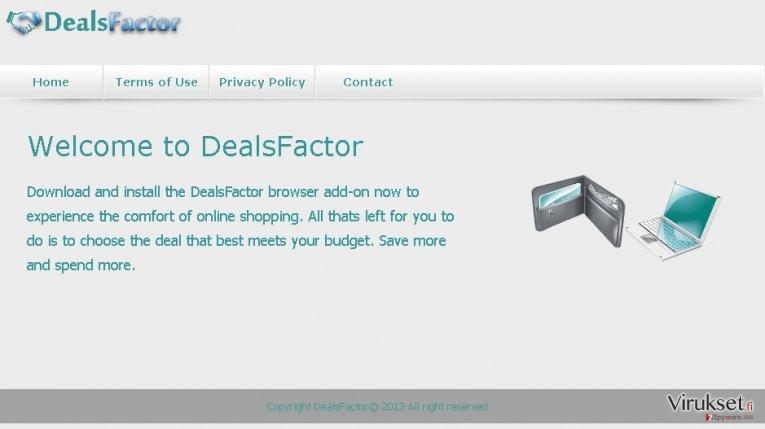 DealsFactor virus kuvankaappaus