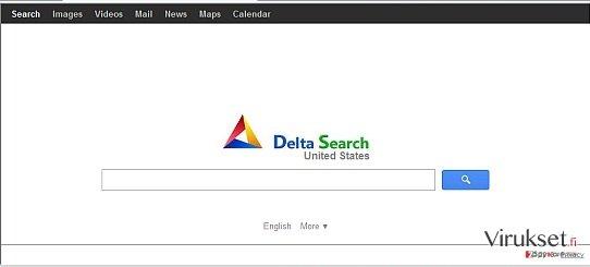 Delta Search virus kuvankaappaus