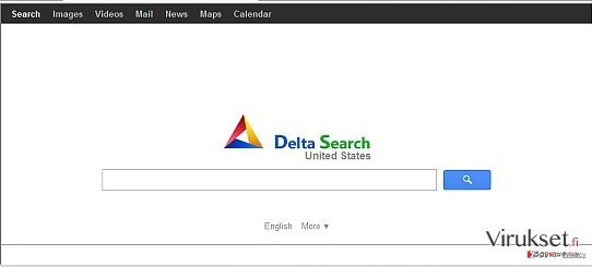 Delta-search.com redirect kuvankaappaus