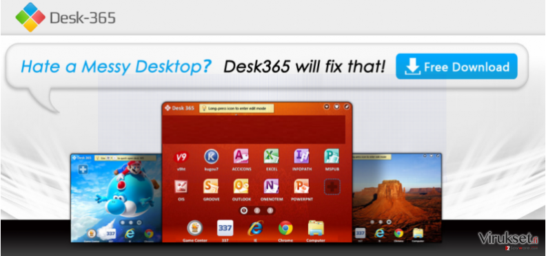 Desk 365 virus kuvankaappaus