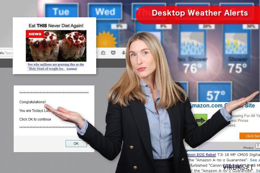 Desktop Weather Alerts kuvankaappaus