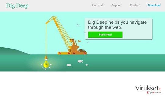Dig Deep mainokset kuvankaappaus