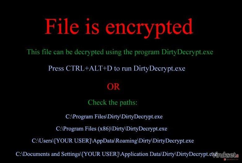 DirtyDecrypt kuvankaappaus
