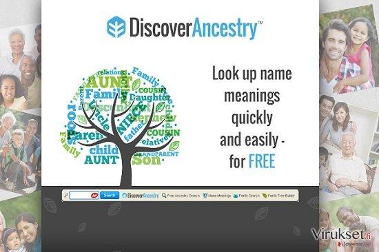 DiscoverAncestry Työkalupalkki kuvankaappaus
