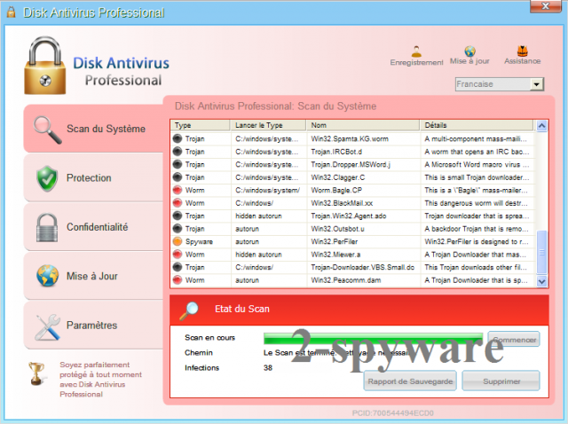 Disk Antivirus Professional kuvankaappaus