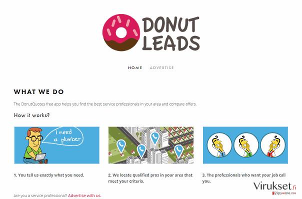 DonutQuotes mainokset kuvankaappaus