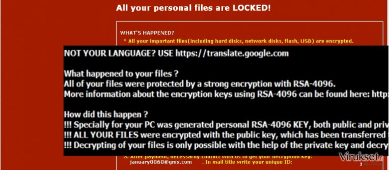 The note of .dot virus ransomware