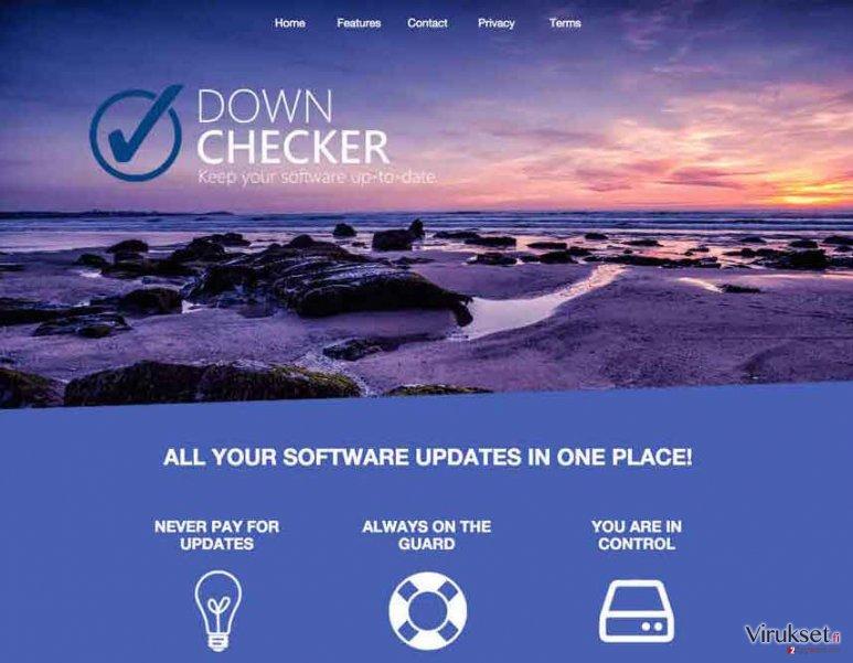 Down Checker mainokset kuvankaappaus