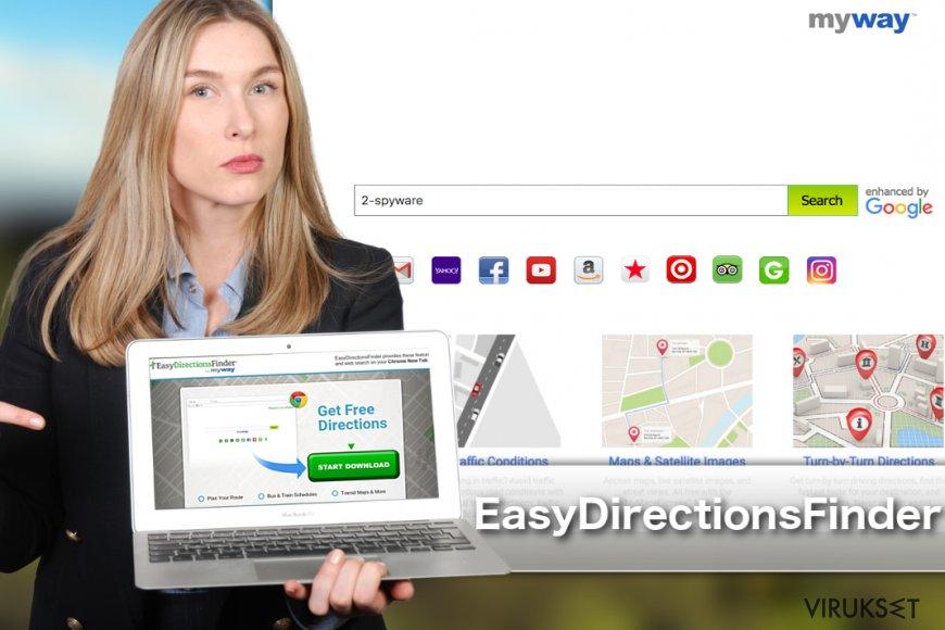 EasyDirectionsFinder Työkalupalkin kuva