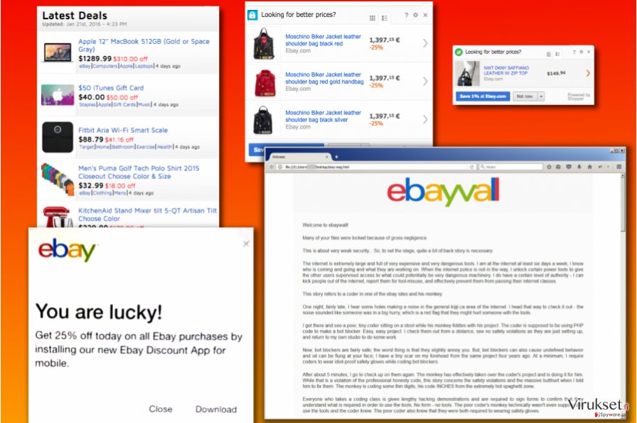 eBay virus versiot